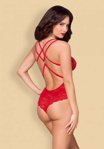 Body dentelle rouge - 860-TED-3 - color: Rouge