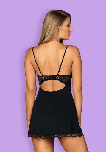 Luvae - Nuisette et string élégants - color: Noir