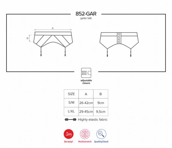 Porte-jarretelles noir en dentelle - 852-GAR-1 - color: Noir