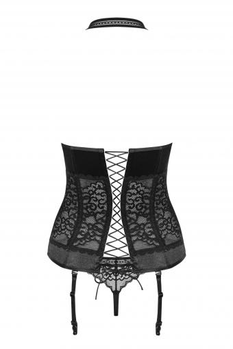 Ailay - Corset et string noir - color: Noir