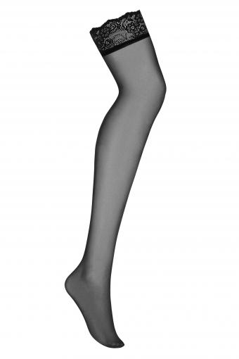 Amallie - Bas noirs sexy - color: Noir