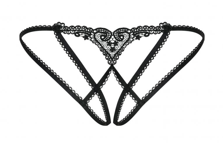 Chiccanta - Culotte coquine ouvert - color: Noir