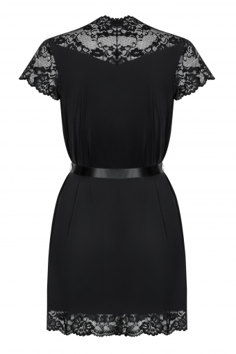 810-PEI-1 - Elegant peignoir noir - color: Noir