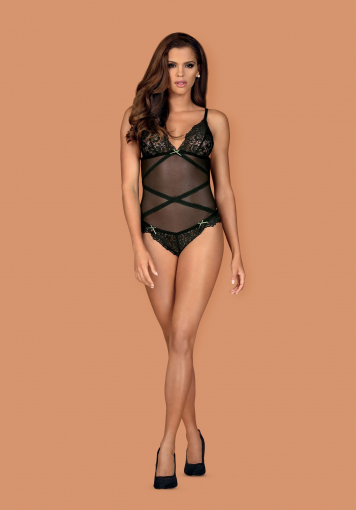 Bondea - Body sexy transparent - color: Noir