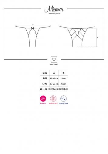 Miamor - Culotte ouverte noire - color: Noir