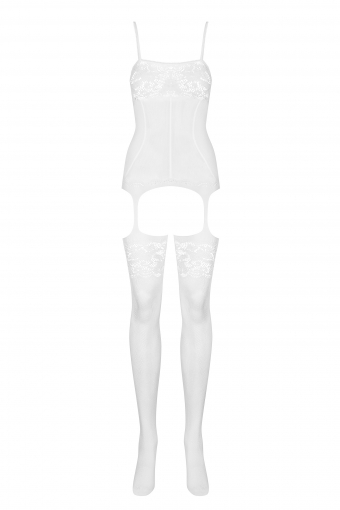 F204 - Combinaison blanche sexy - color: Blanc