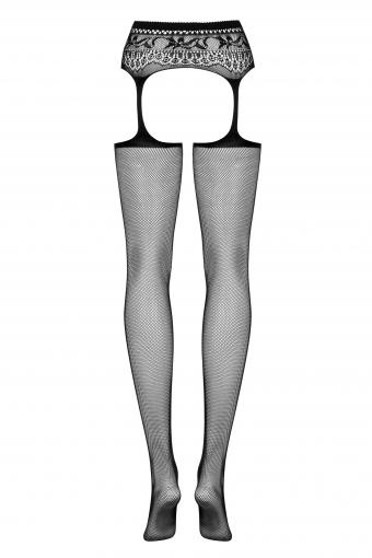 S307 - Bas sexy et porte-jarretelles combinés - color: Noir